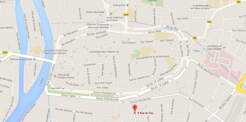 Plan Google 9 Rue du Tau